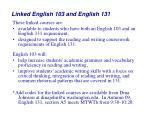 linked english 103 and english 131