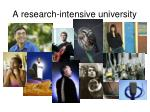 a research intensive university