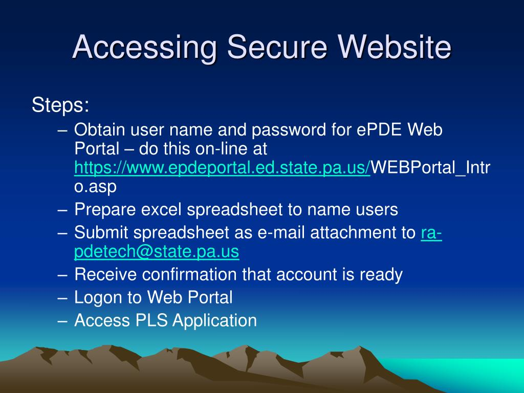 Accessing Secure Website