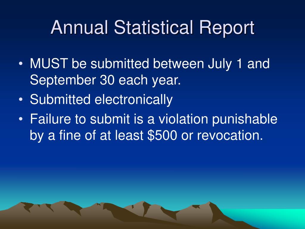 Annual Statistical Report