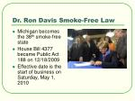 dr ron davis smoke free law