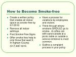 how to become smoke free