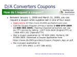 d a converters coupons