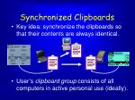 synchronized clipboards