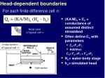 head dependent boundaries17