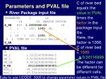 parameters and pval file