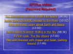 aptplus videos password required