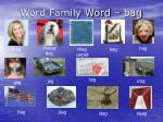 word family word bag