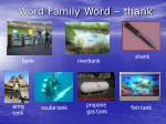 word family word thank