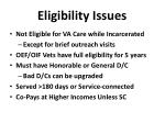 eligibility issues