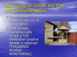 bacteriological sample site plan changes modifications16