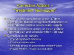 corrective actions treatment techniques