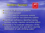 sanitary surveys