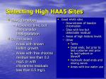selecting high haa5 sites