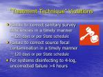 treatment technique violations