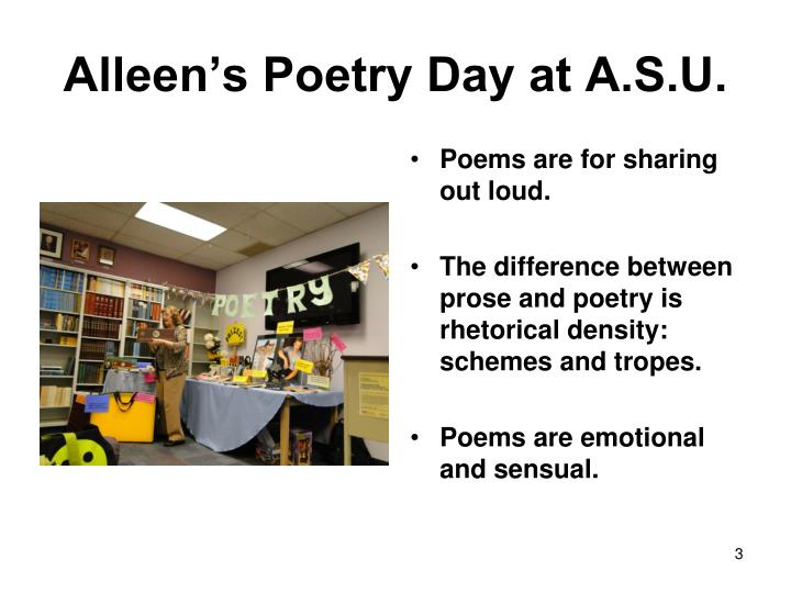 Alleen s poetry day at a s u