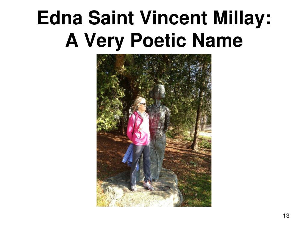 Edna Saint Vincent Millay: