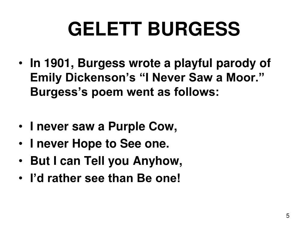 GELETT BURGESS