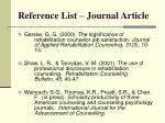 reference list journal article