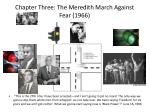 chapter three the meredith march against fear 1966