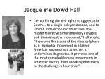 jacqueline dowd hall