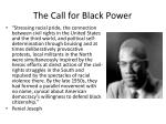 the call for black power