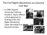 the civil rights movement as a second civil war