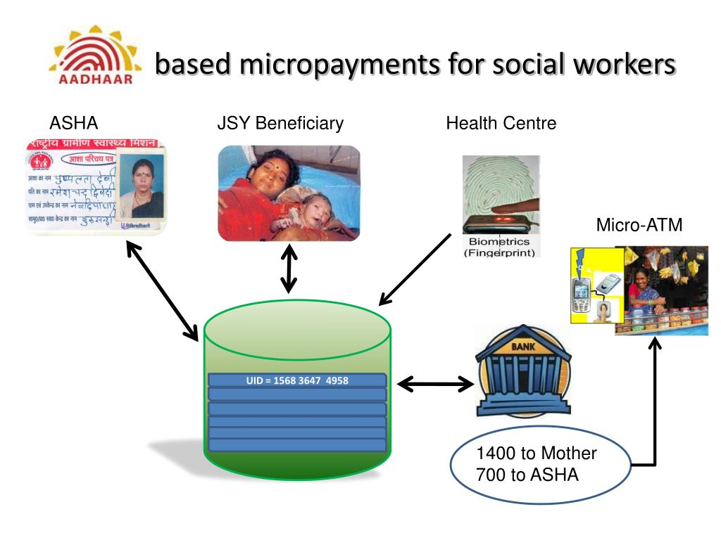 based micropayments for social workers
