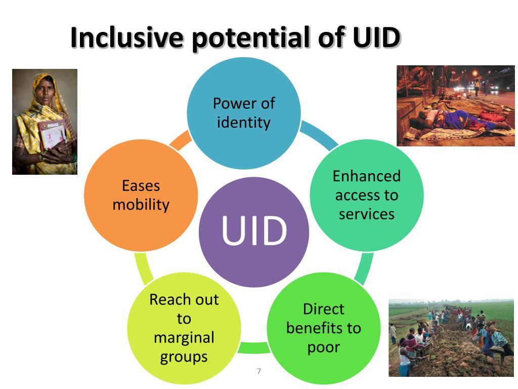 Inclusive potential of UID