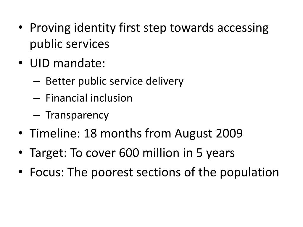 Proving identity first step towards accessing public services