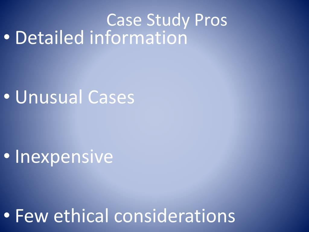 Case Study Pros