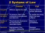 2 systems of law