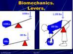 biomechanics levers