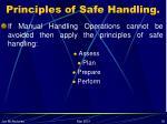 principles of safe handling