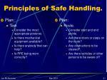 principles of safe handling21