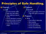 principles of safe handling22