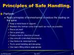 principles of safe handling23