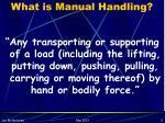 what is manual handling