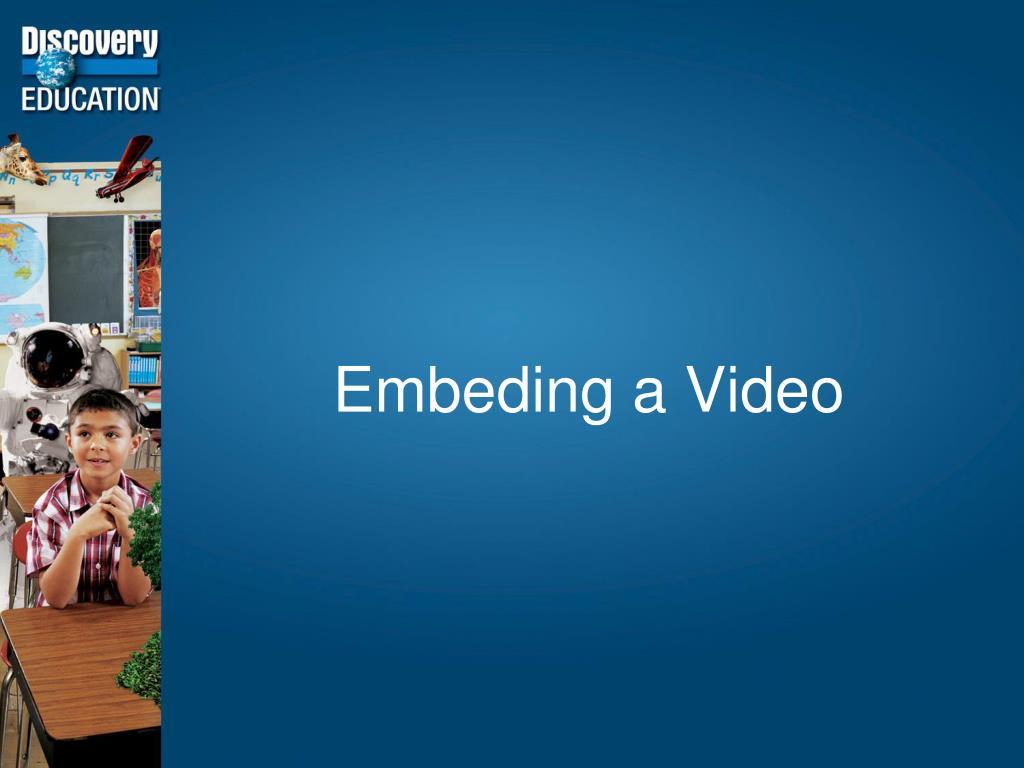 Embeding a Video