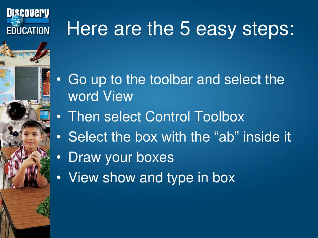 Here are the 5 easy steps:
