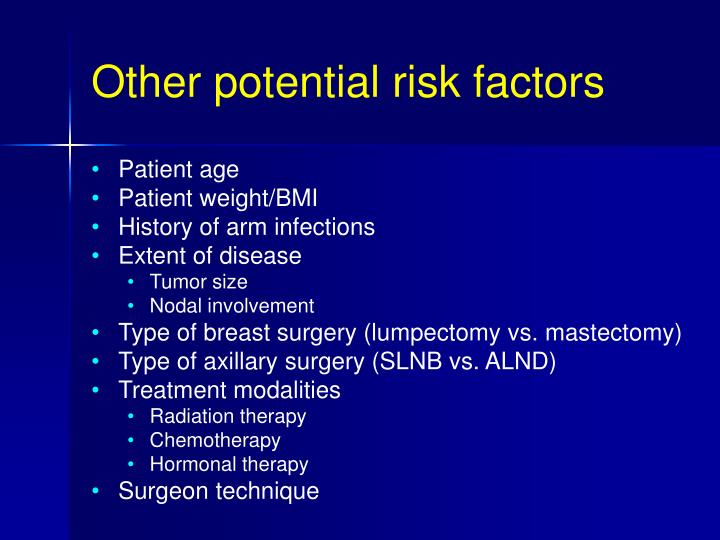 Other potential risk factors