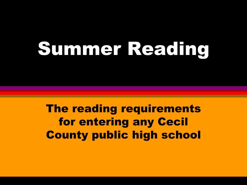 summer reading l.