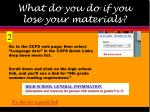 what do you do if you lose your materials7