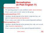 normalization in plain english