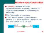 relationships cardinalities