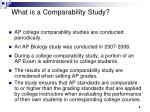 what is a comparability study