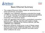 basic ethernet summary