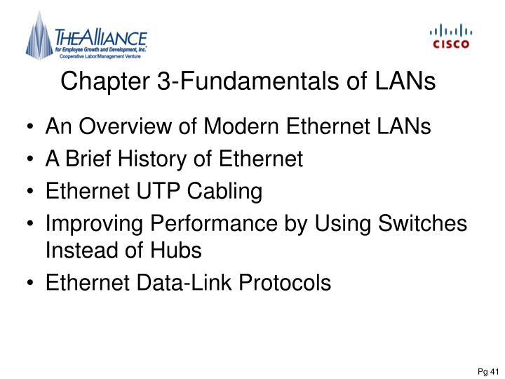 Chapter 3 fundamentals of lans