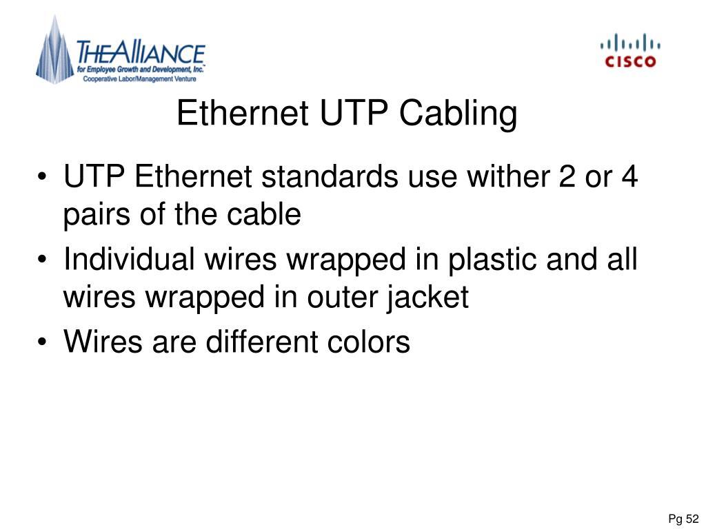 Ethernet UTP Cabling