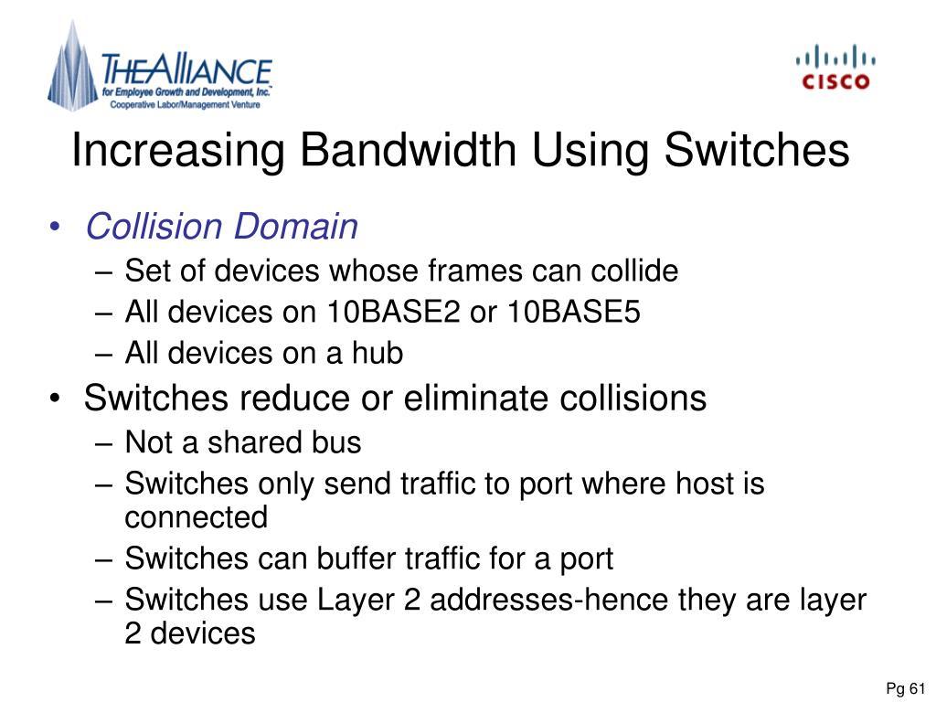 Increasing Bandwidth Using Switches